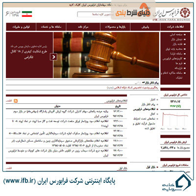 پایگاه اینترنتی شرکت فرابورس ایران