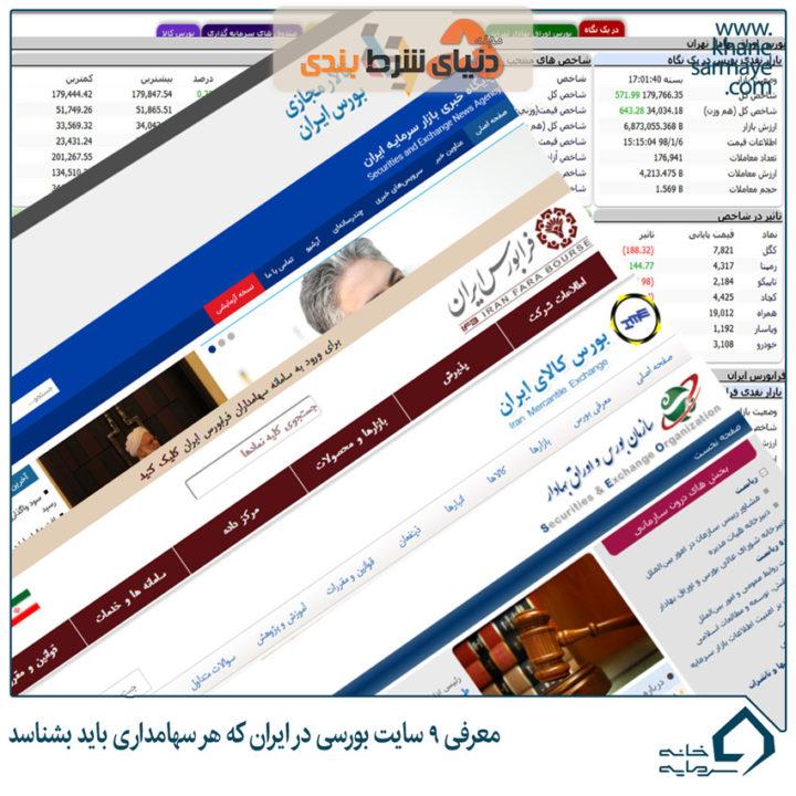 معرفی سایتهای بورسی کاربردی در بازار سرمایه ایران