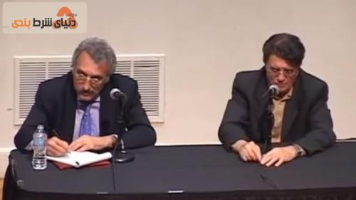 عباس میلانی (چپ) سالها پیش از محمدرضا شجریان دعوت کرد تا در دانشگاه استنفورد (محل تدریس آقای میلانی) برای مخاطبان ایرانی درباره موسیقی سنتی ایران سخنرانی کند