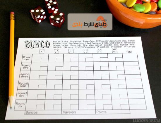 جدول امتیازات _ آموزش بازی تاس بانکو